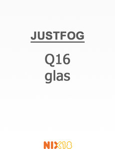 Justfog Q16 Pyrex Glass