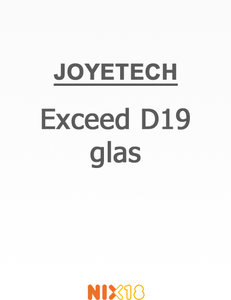 Joyetech Exceed D19 glas