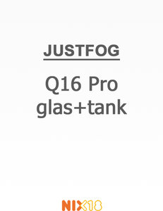 Justfog Q16 Pro Pyrex Glas + Tank