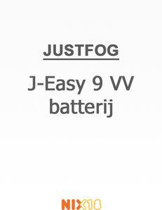 Justfog J-Easy 9 VV batterij 900mah